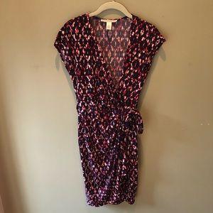 Maggy London Printed Wrap Dress